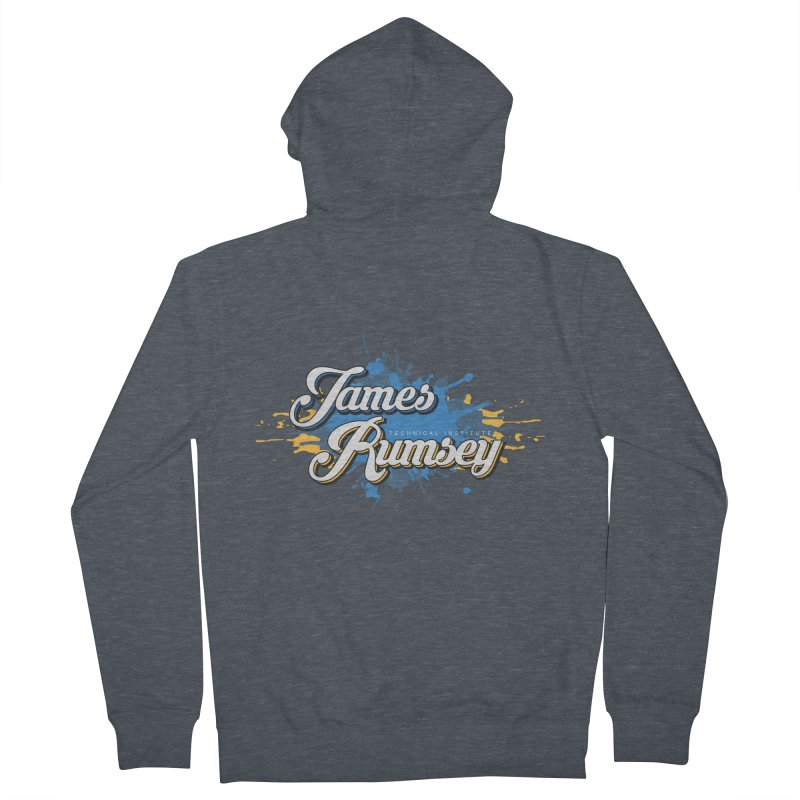 JRTI Splatter Men's French Terry Zip-Up Hoody by James Rumsey Technical Institute