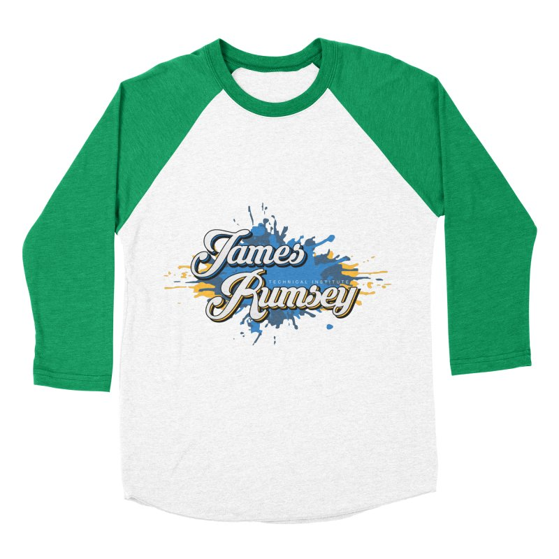 JRTI Splatter Women's Baseball Triblend Longsleeve T-Shirt by James Rumsey Technical Institute