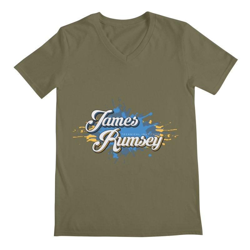 JRTI Splatter Men's Regular V-Neck by James Rumsey Technical Institute