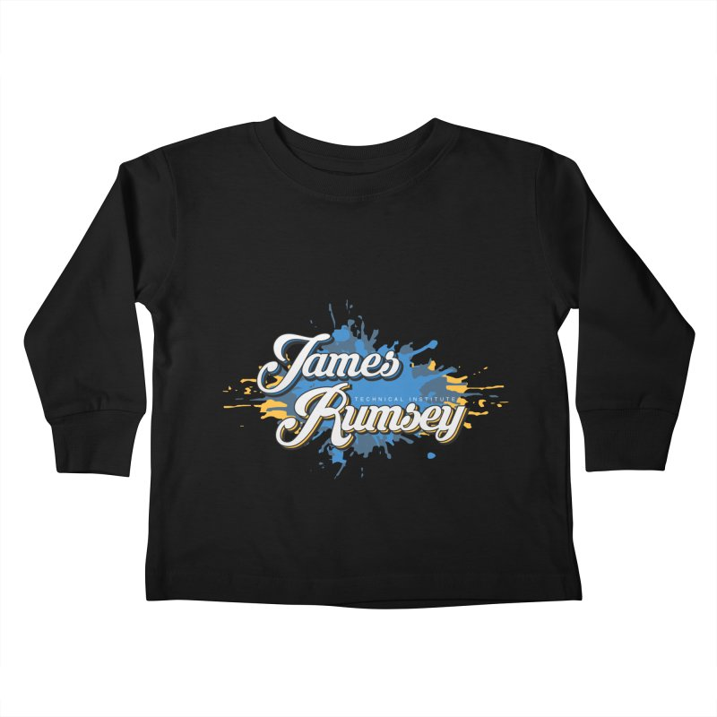 JRTI Splatter Kids Toddler Longsleeve T-Shirt by James Rumsey Technical Institute
