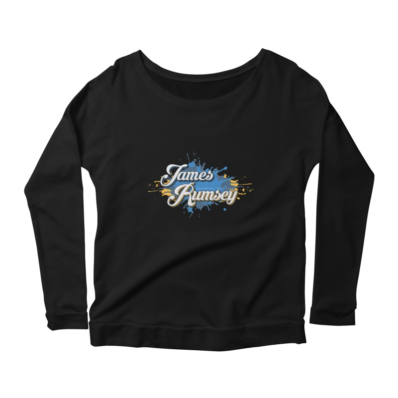 JRTI Splatter Women's Scoop Neck Longsleeve T-Shirt by James Rumsey Technical Institute