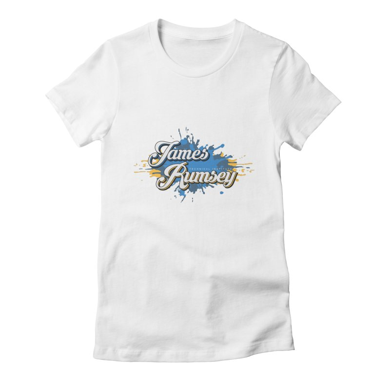 JRTI Splatter Women's Fitted T-Shirt by James Rumsey Technical Institute