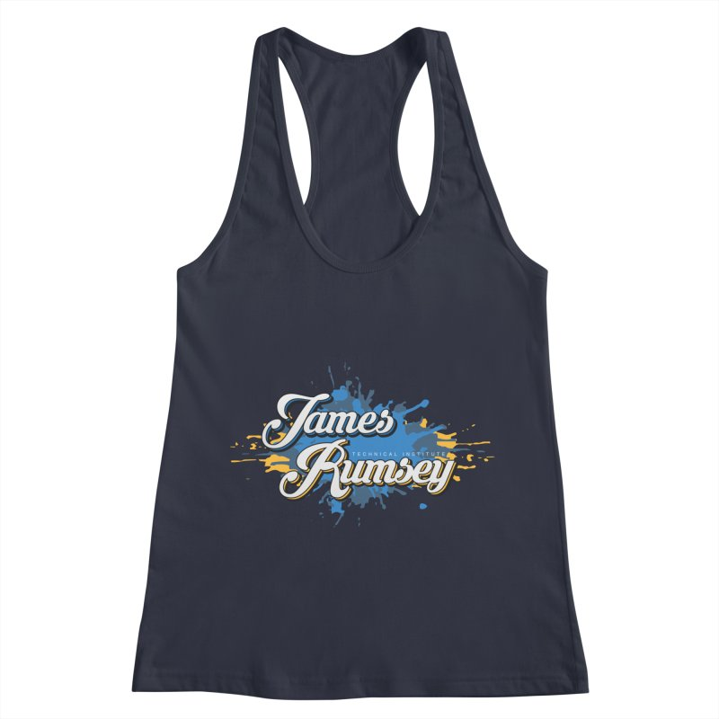 JRTI Splatter Women's Racerback Tank by James Rumsey Technical Institute