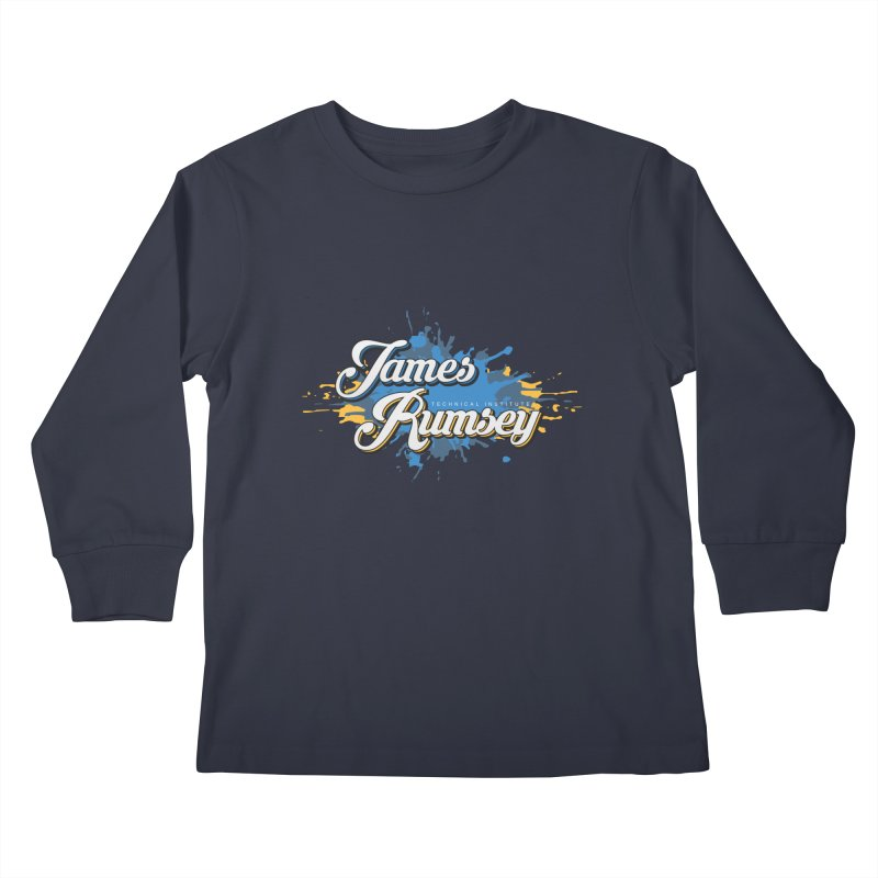 JRTI Splatter Kids Longsleeve T-Shirt by James Rumsey Technical Institute