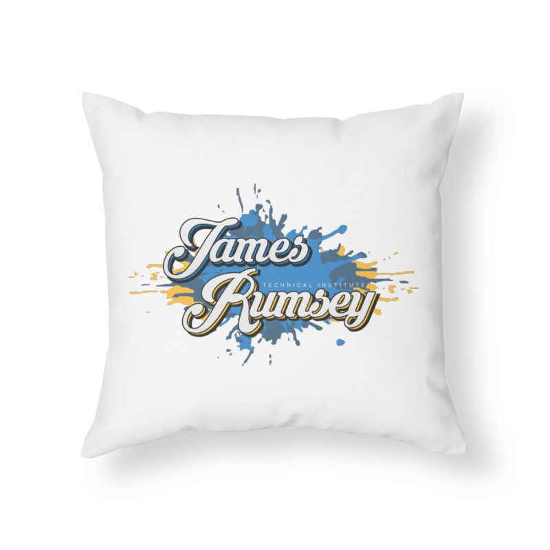 JRTI Splatter Home Throw Pillow by James Rumsey Technical Institute