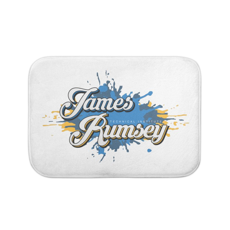 JRTI Splatter Home Bath Mat by James Rumsey Technical Institute