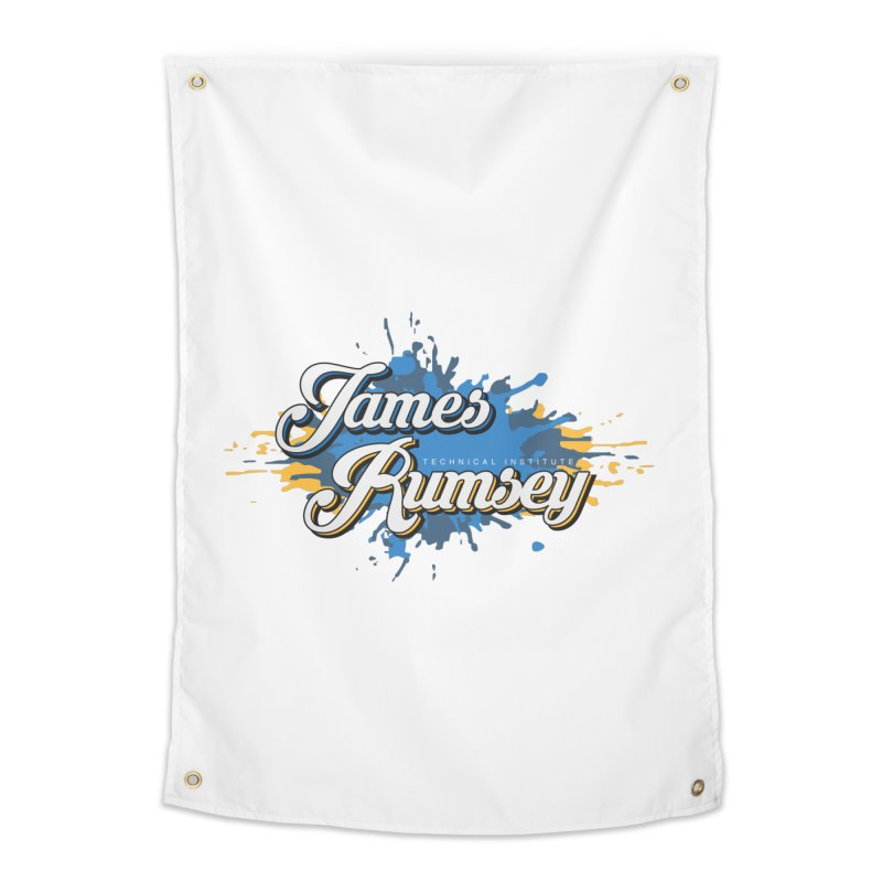 JRTI Splatter Home Tapestry by James Rumsey Technical Institute