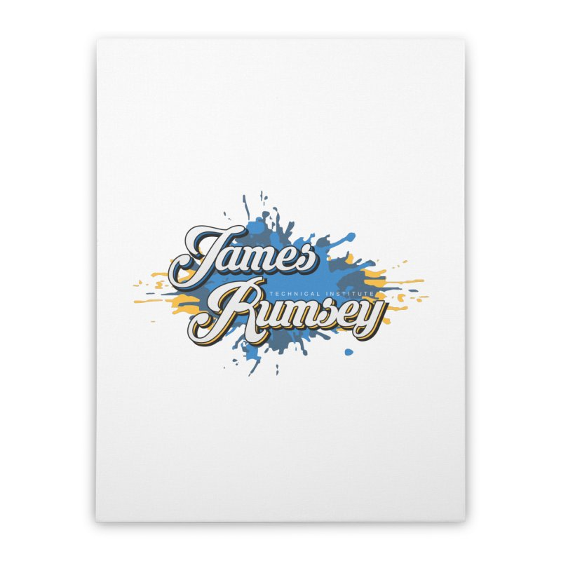 JRTI Splatter Home Stretched Canvas by James Rumsey Technical Institute