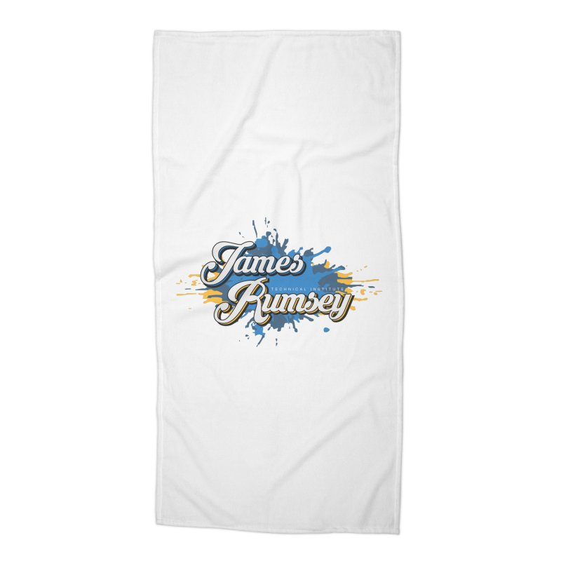 JRTI Splatter Accessories Beach Towel by James Rumsey Technical Institute