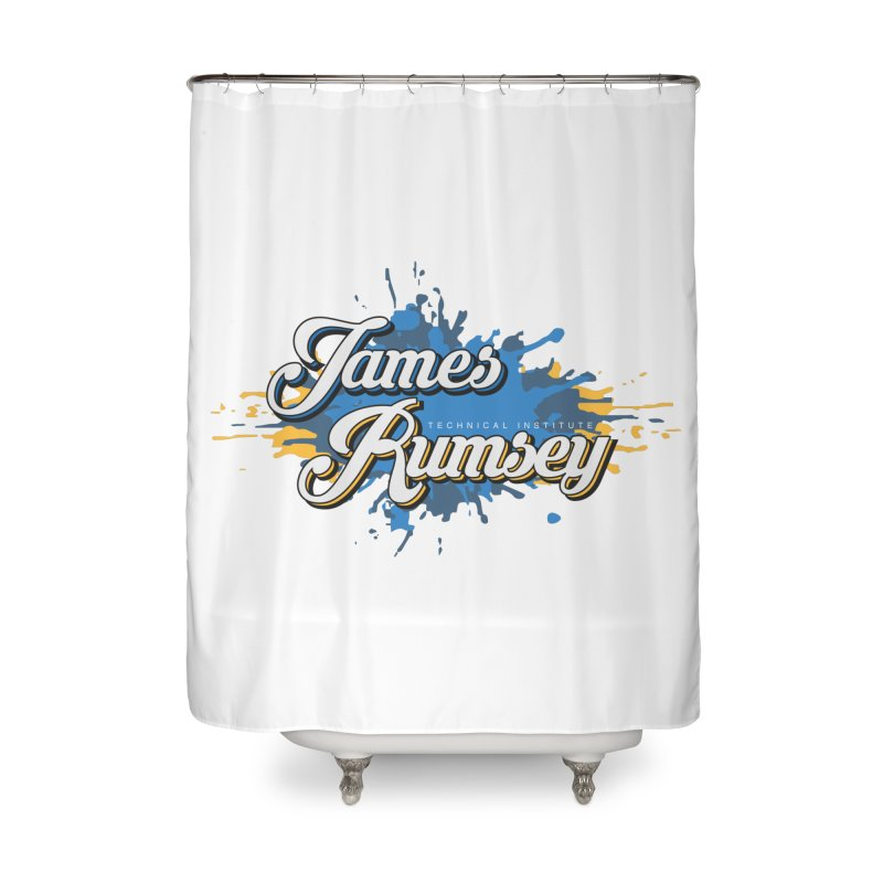 JRTI Splatter Home Shower Curtain by James Rumsey Technical Institute