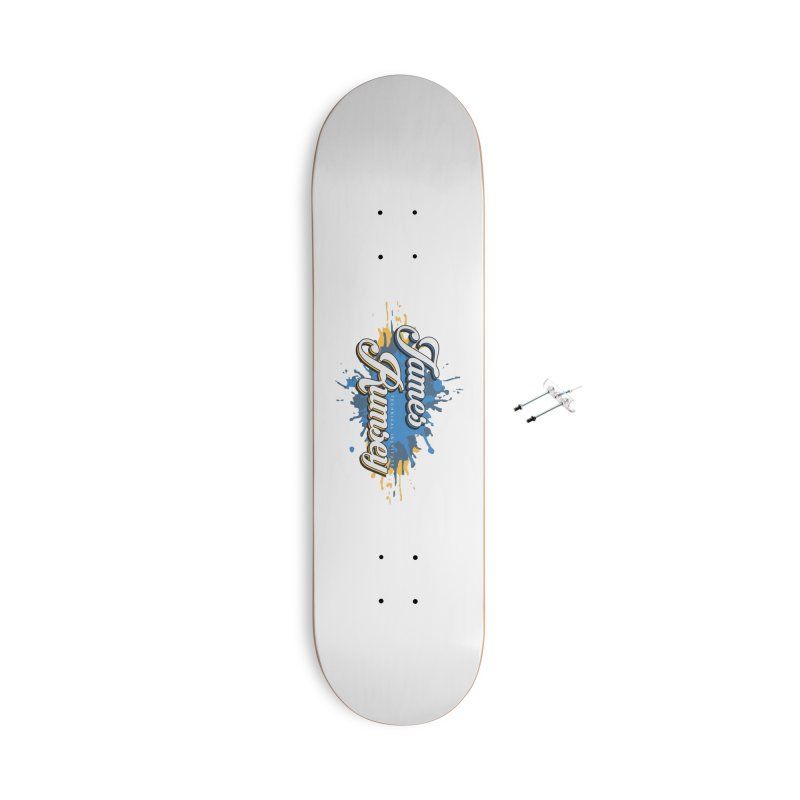 JRTI Splatter Accessories With Hanging Hardware Skateboard by James Rumsey Technical Institute