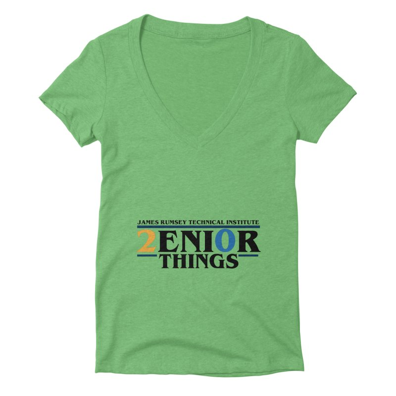 Senior Things Women's Deep V-Neck V-Neck by James Rumsey Technical Institute