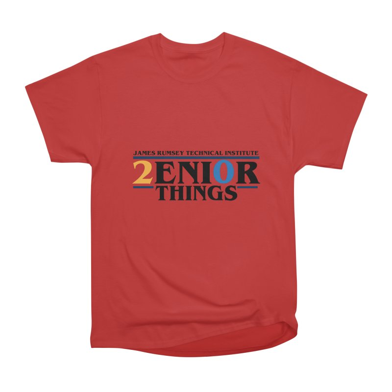 Senior Things Men's Heavyweight T-Shirt by James Rumsey Technical Institute
