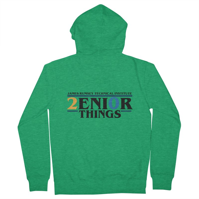 Senior Things Men's French Terry Zip-Up Hoody by James Rumsey Technical Institute