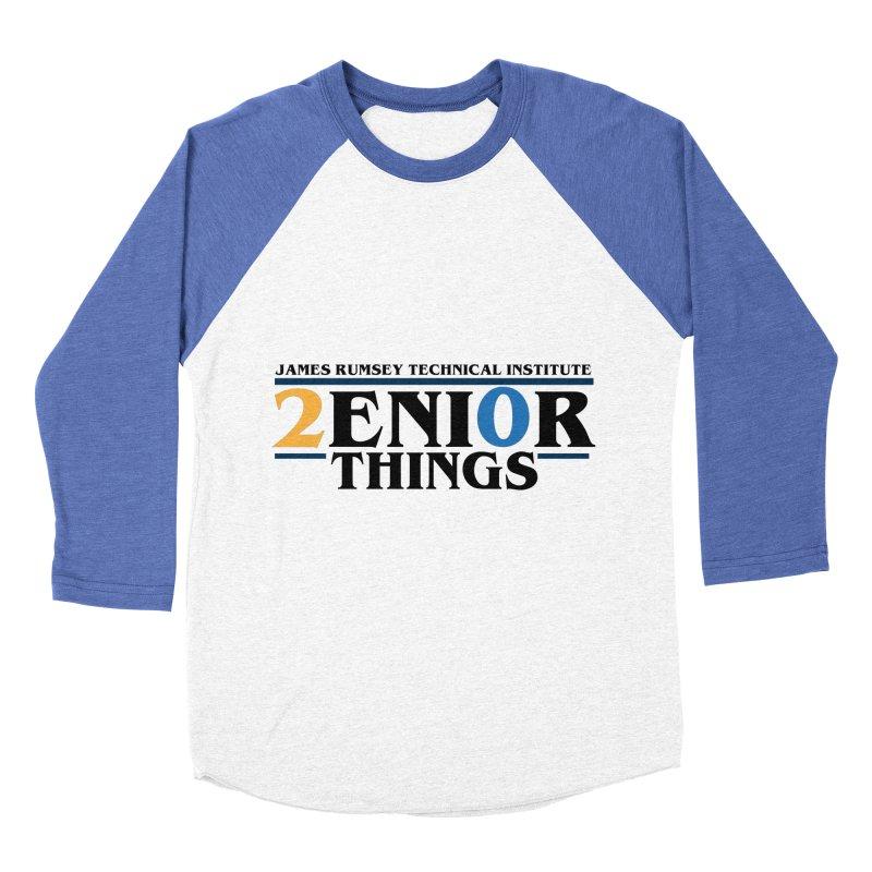 Senior Things Men's Baseball Triblend Longsleeve T-Shirt by James Rumsey Technical Institute