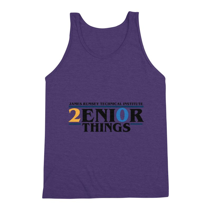 Senior Things Men's Triblend Tank by James Rumsey Technical Institute