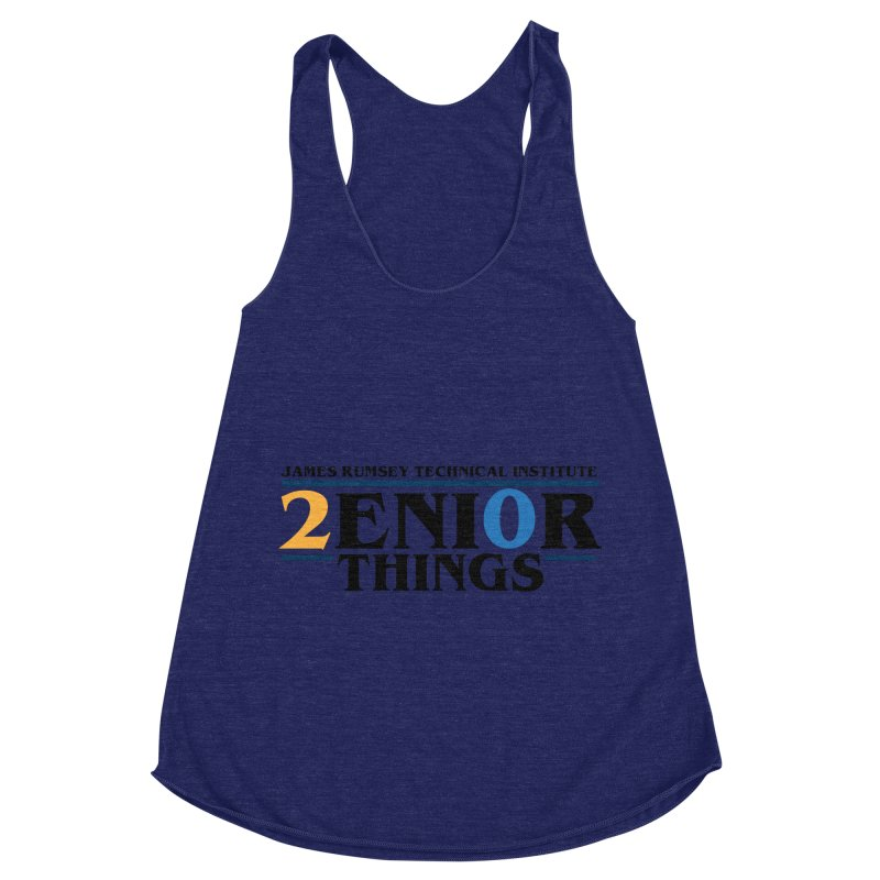 Senior Things Women's Racerback Triblend Tank by James Rumsey Technical Institute