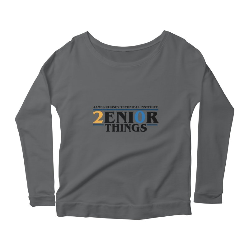 Senior Things Women's Scoop Neck Longsleeve T-Shirt by James Rumsey Technical Institute