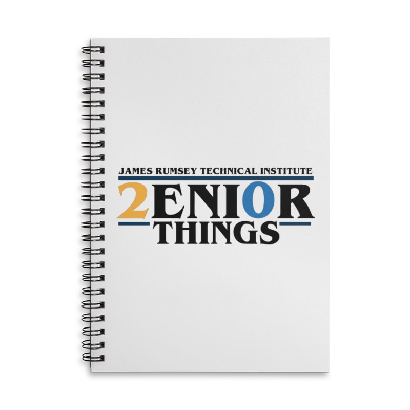 Senior Things Accessories Lined Spiral Notebook by James Rumsey Technical Institute