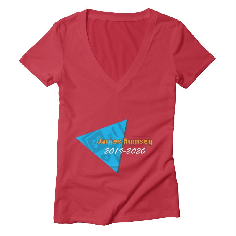 Retro Design With Shield Women's Deep V-Neck V-Neck by James Rumsey Technical Institute