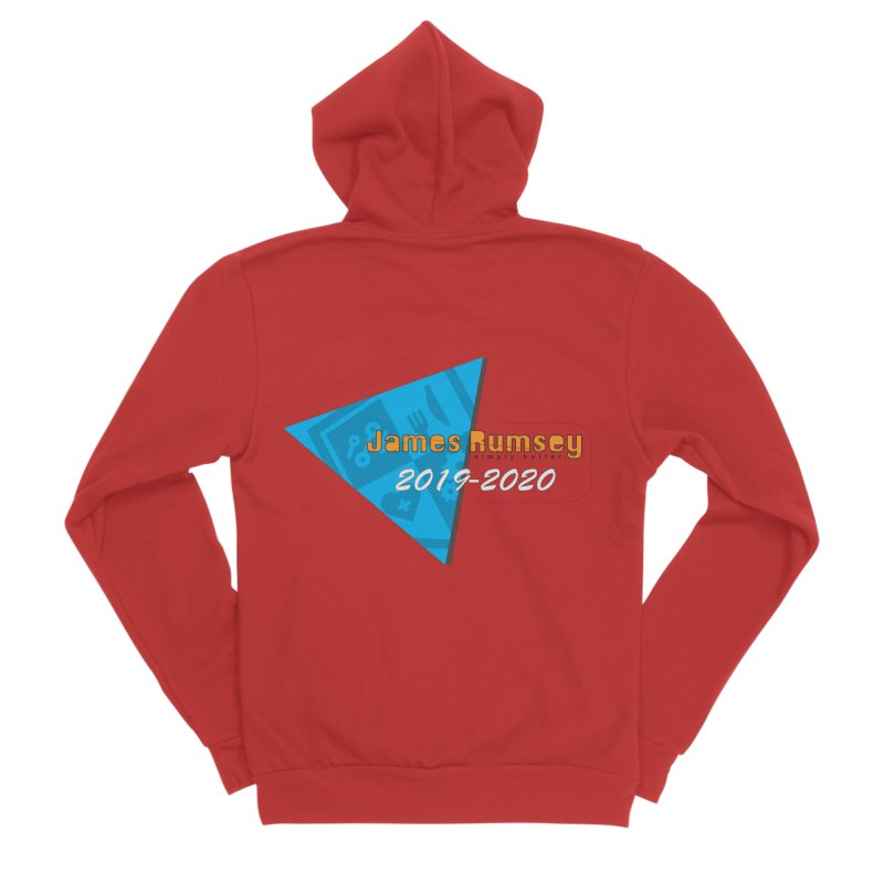 Retro Design With Shield Men's Zip-Up Hoody by James Rumsey Technical Institute
