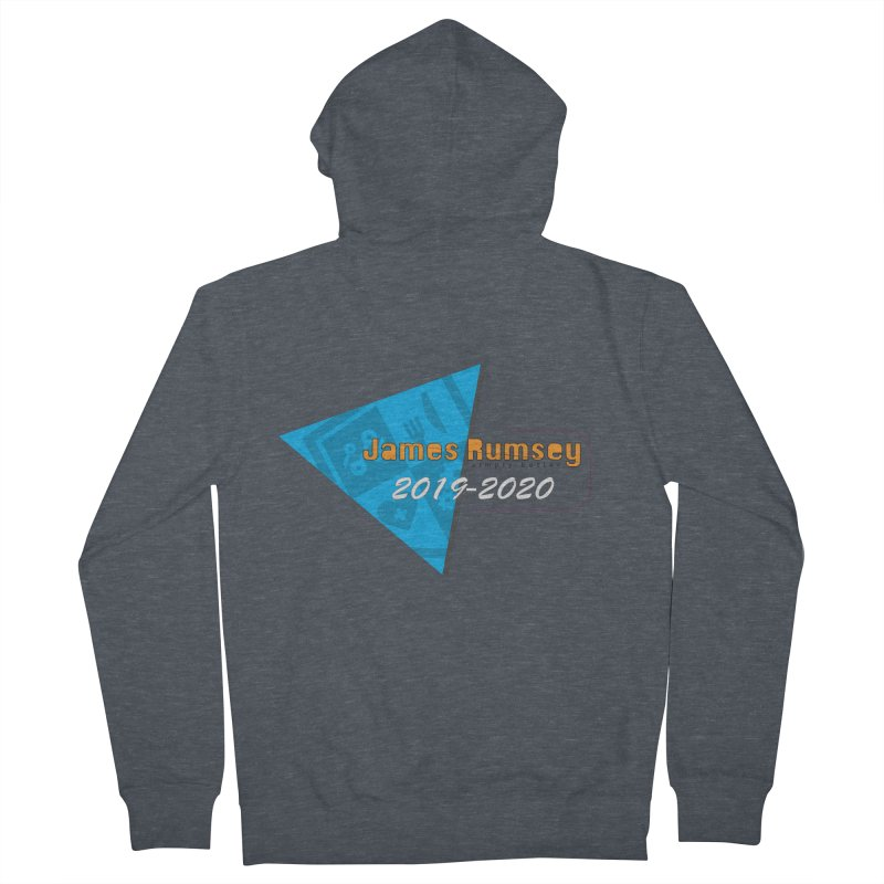Retro Design With Shield Women's French Terry Zip-Up Hoody by James Rumsey Technical Institute