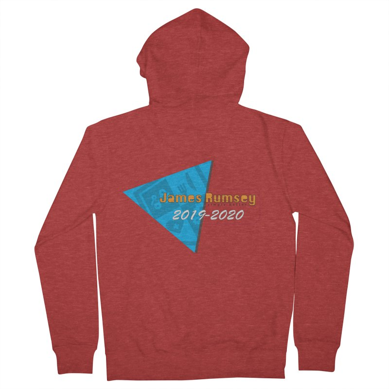 Retro Design With Shield Men's French Terry Zip-Up Hoody by James Rumsey Technical Institute