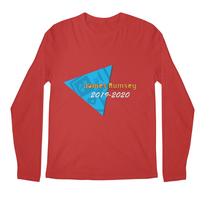 Retro Design With Shield Men's Regular Longsleeve T-Shirt by James Rumsey Technical Institute