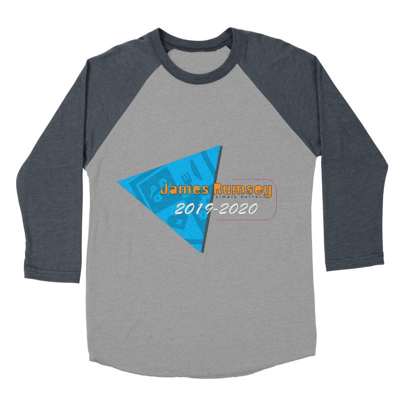 Retro Design With Shield Women's Baseball Triblend Longsleeve T-Shirt by James Rumsey Technical Institute