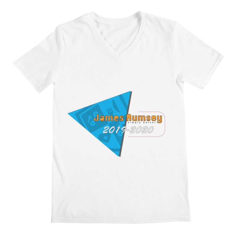 Retro Design With Shield Men's V-Neck by James Rumsey Technical Institute