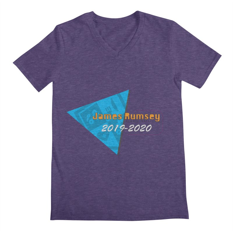 Retro Design With Shield Men's Regular V-Neck by James Rumsey Technical Institute