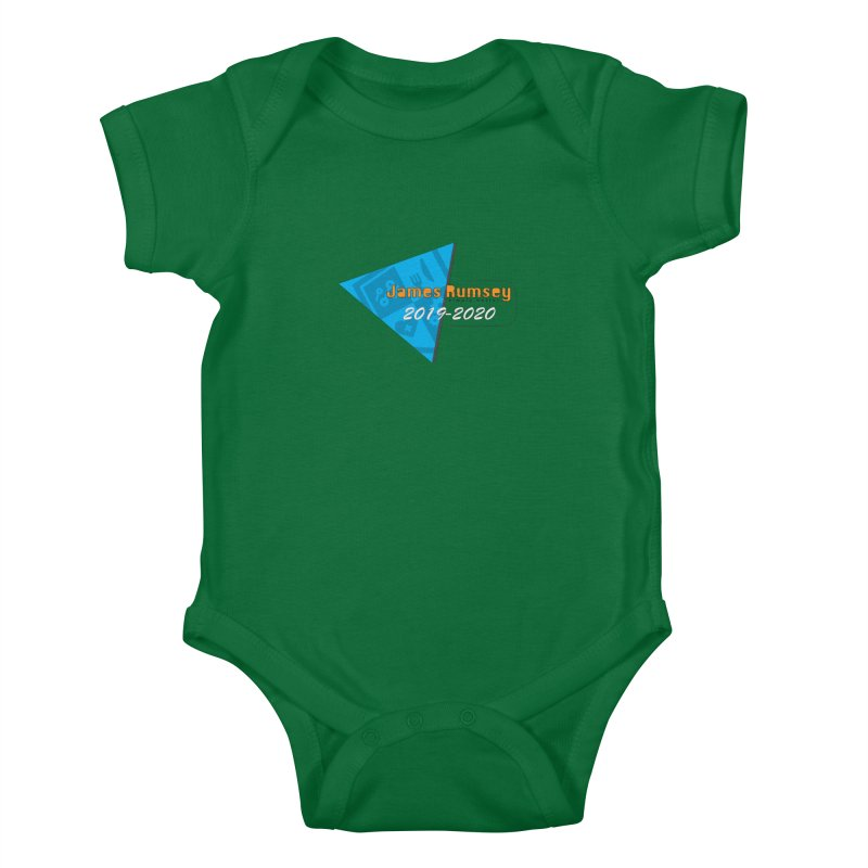 Retro Design With Shield Kids Baby Bodysuit by James Rumsey Technical Institute