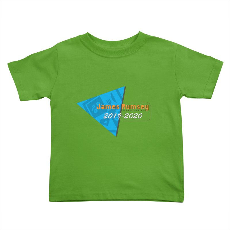 Retro Design With Shield Kids Toddler T-Shirt by James Rumsey Technical Institute