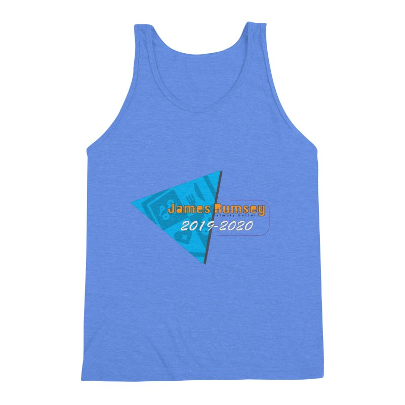 Retro Design With Shield Men's Triblend Tank by James Rumsey Technical Institute