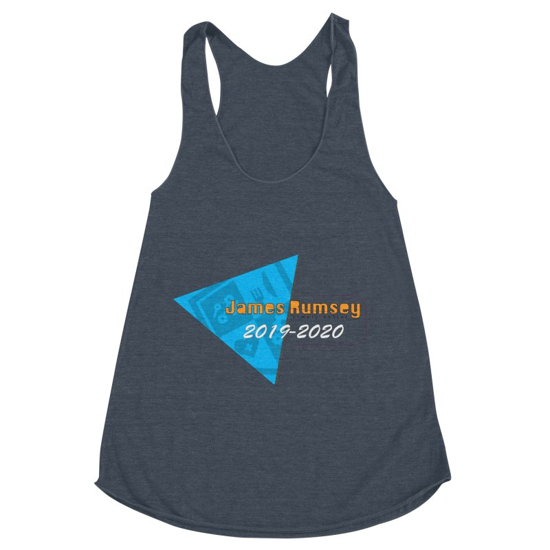 Retro Design With Shield Women's Racerback Triblend Tank by James Rumsey Technical Institute