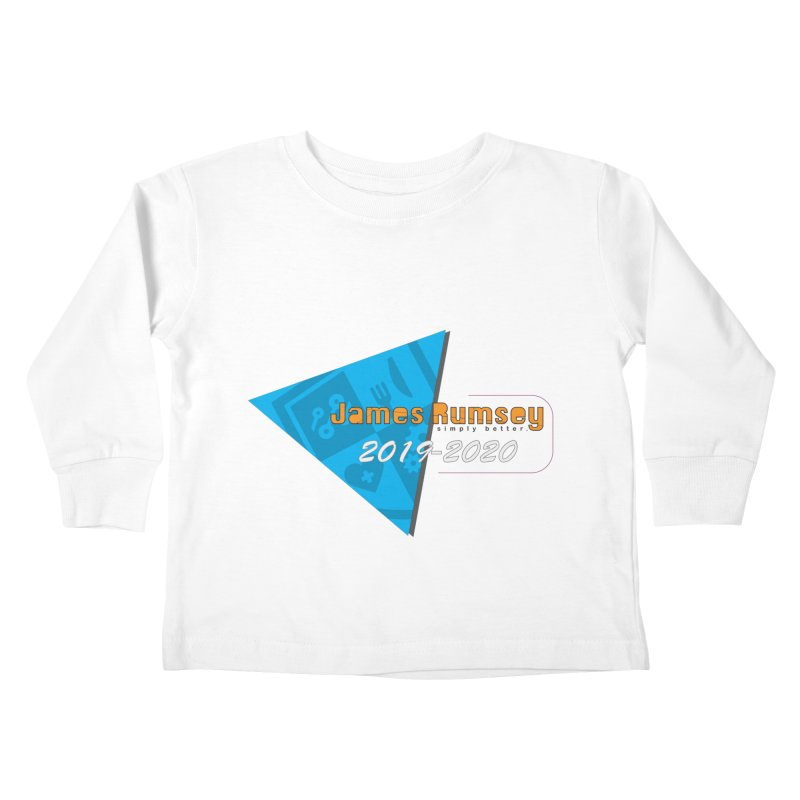 Retro Design With Shield Kids Toddler Longsleeve T-Shirt by James Rumsey Technical Institute