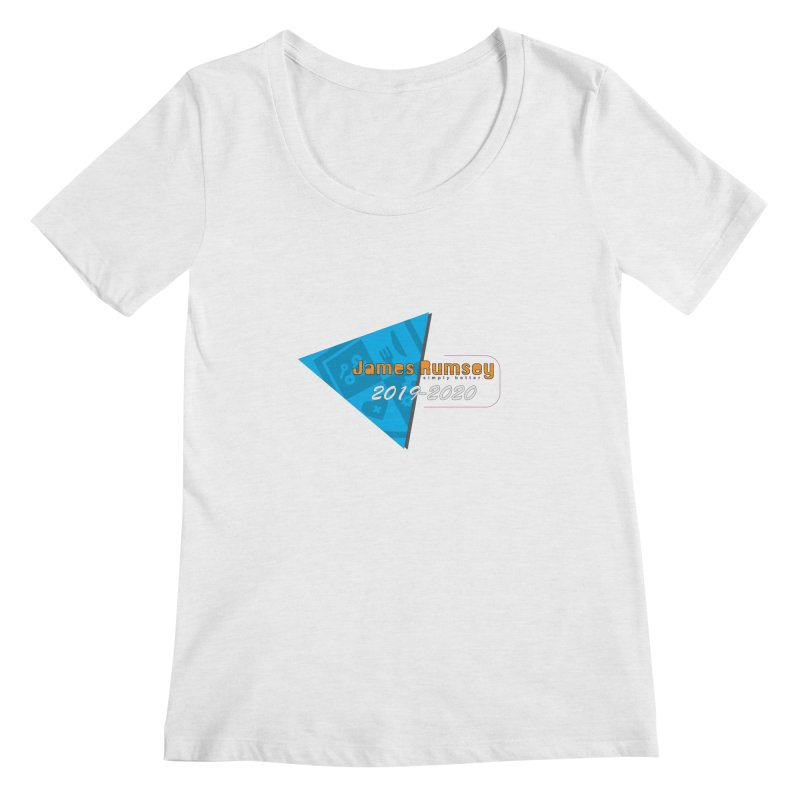Retro Design With Shield Women's Regular Scoop Neck by James Rumsey Technical Institute