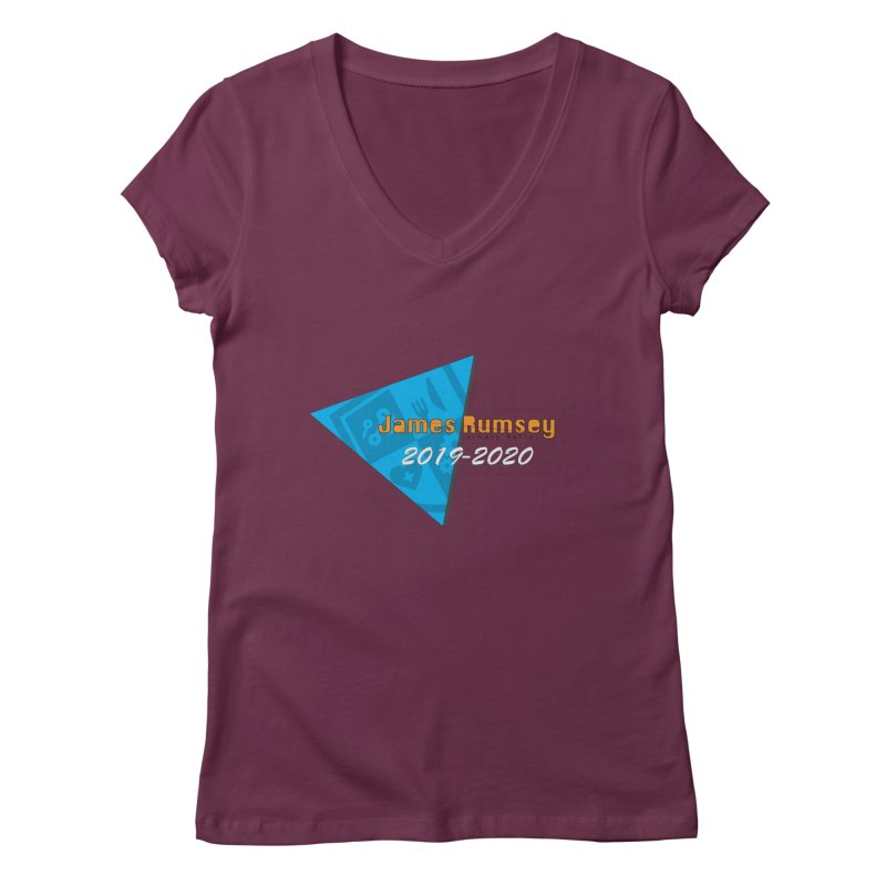 Retro Design With Shield Women's Regular V-Neck by James Rumsey Technical Institute