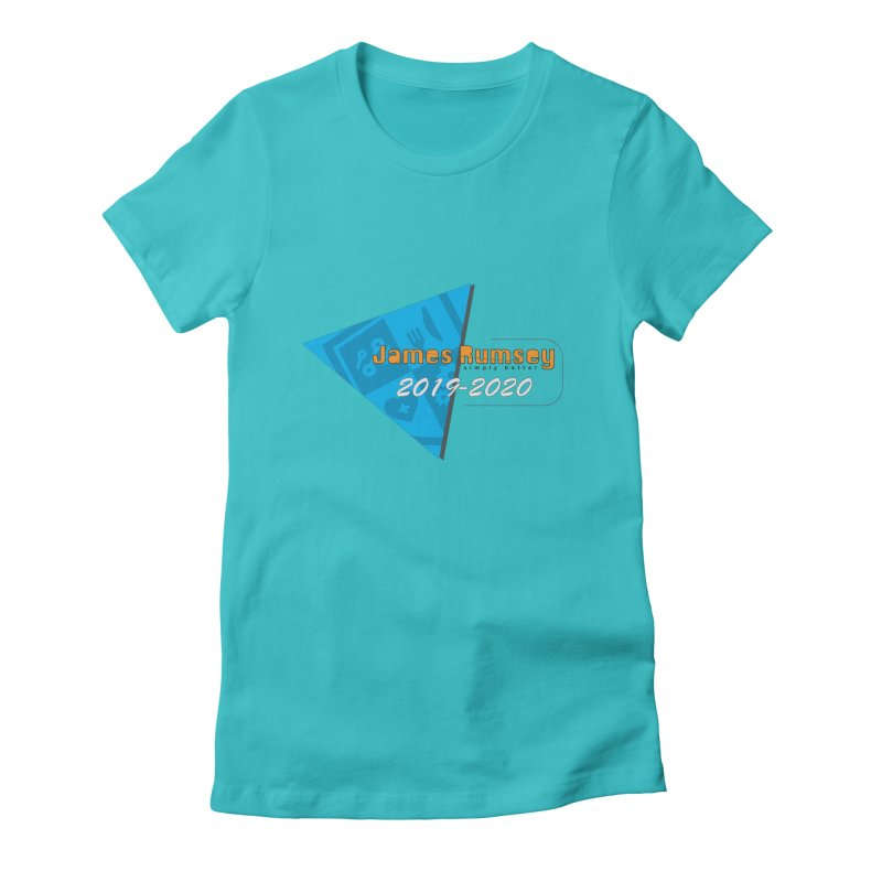 Retro Design With Shield Women's Fitted T-Shirt by James Rumsey Technical Institute