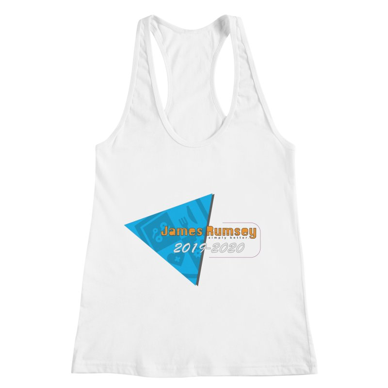 Retro Design With Shield Women's Racerback Tank by James Rumsey Technical Institute