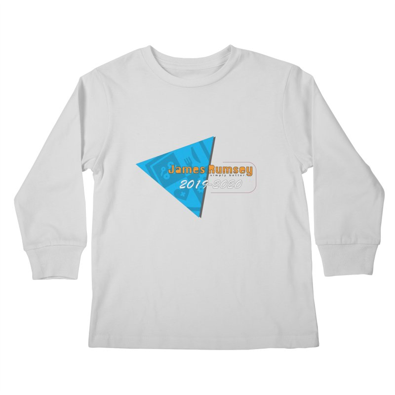 Retro Design With Shield Kids Longsleeve T-Shirt by James Rumsey Technical Institute