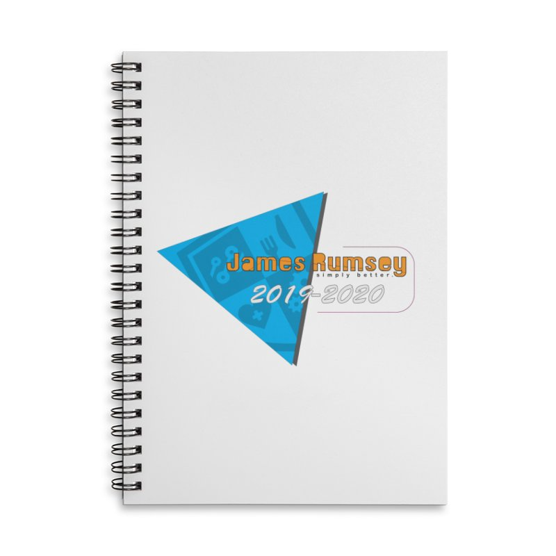 Retro Design With Shield Accessories Lined Spiral Notebook by James Rumsey Technical Institute