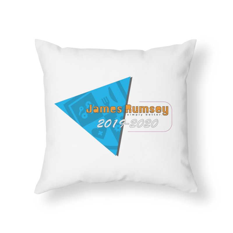 Retro Design With Shield Home Throw Pillow by James Rumsey Technical Institute