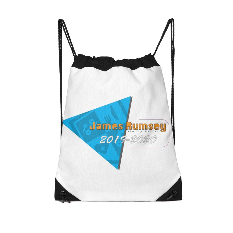 Retro Design With Shield Accessories Drawstring Bag Bag by James Rumsey Technical Institute
