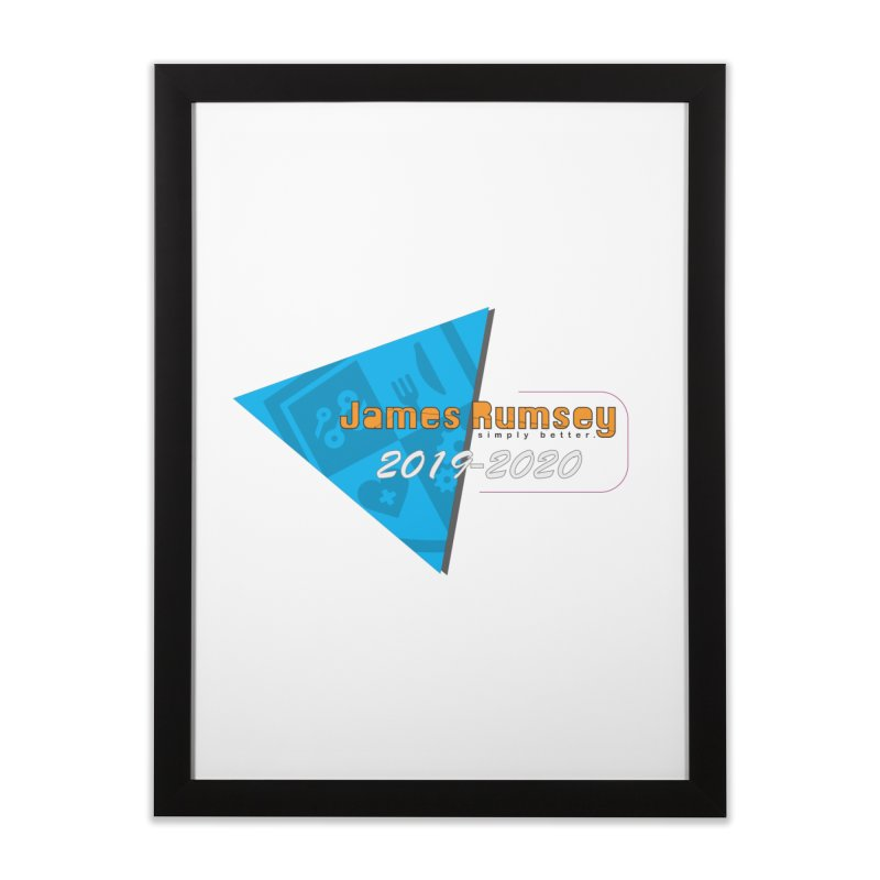 Retro Design With Shield Home Framed Fine Art Print by James Rumsey Technical Institute