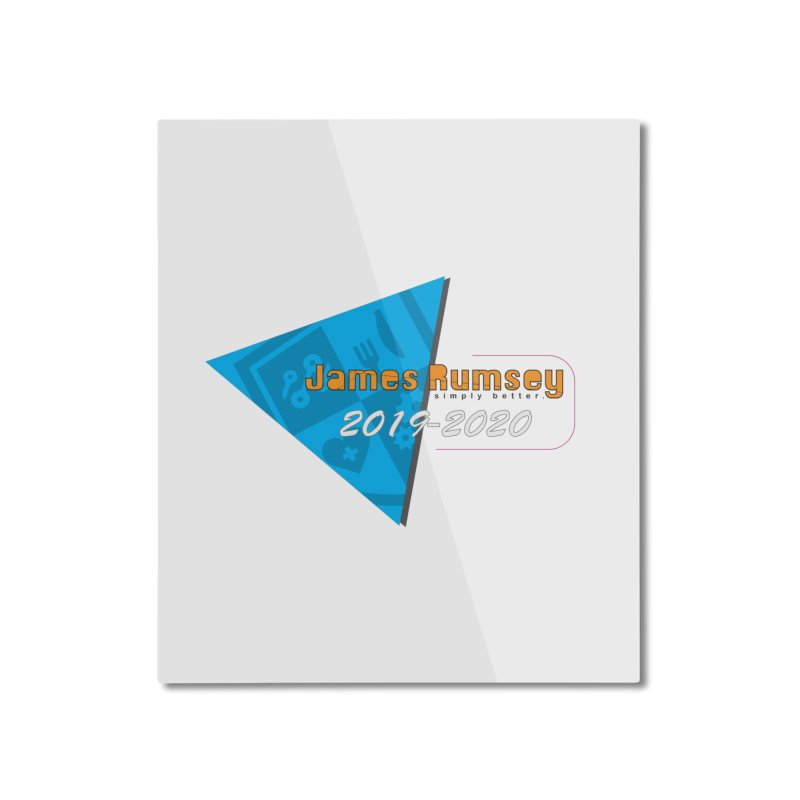 Retro Design With Shield Home Mounted Aluminum Print by James Rumsey Technical Institute