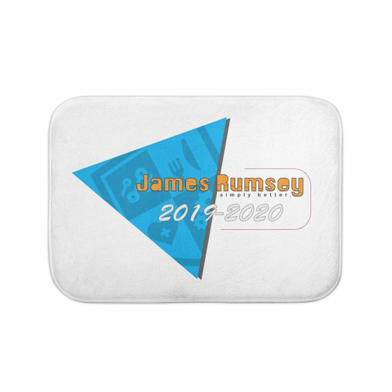 Retro Design With Shield Home Bath Mat by James Rumsey Technical Institute