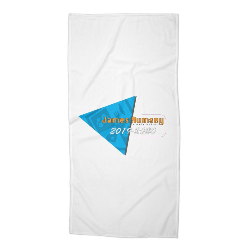 Retro Design With Shield Accessories Beach Towel by James Rumsey Technical Institute