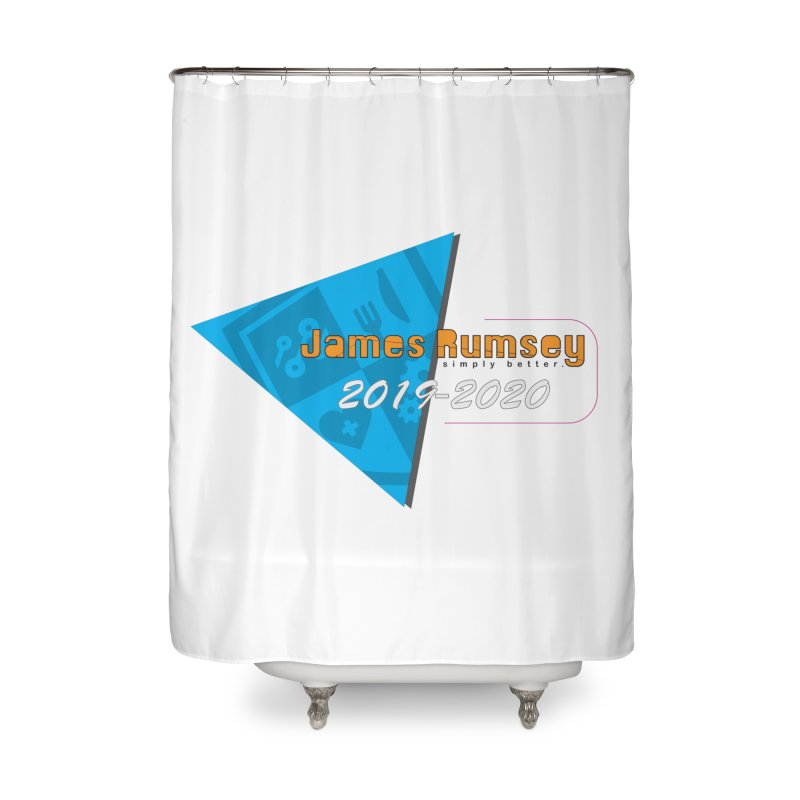 Retro Design With Shield Home Shower Curtain by James Rumsey Technical Institute