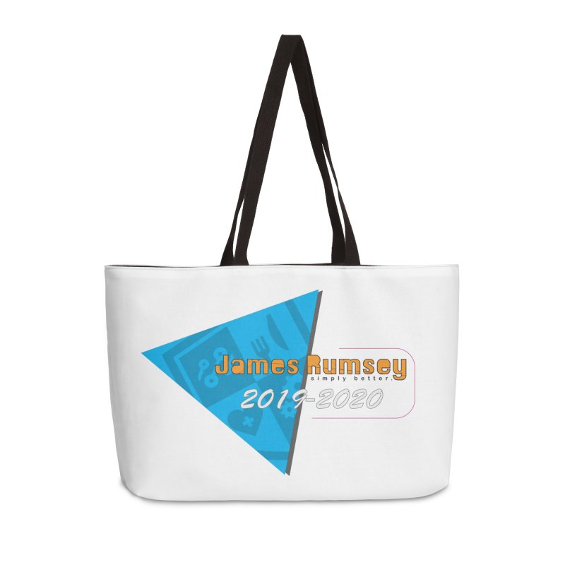 Retro Design With Shield Accessories Weekender Bag Bag by James Rumsey Technical Institute